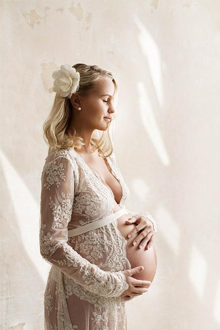 Gravidfoto med kjole.
